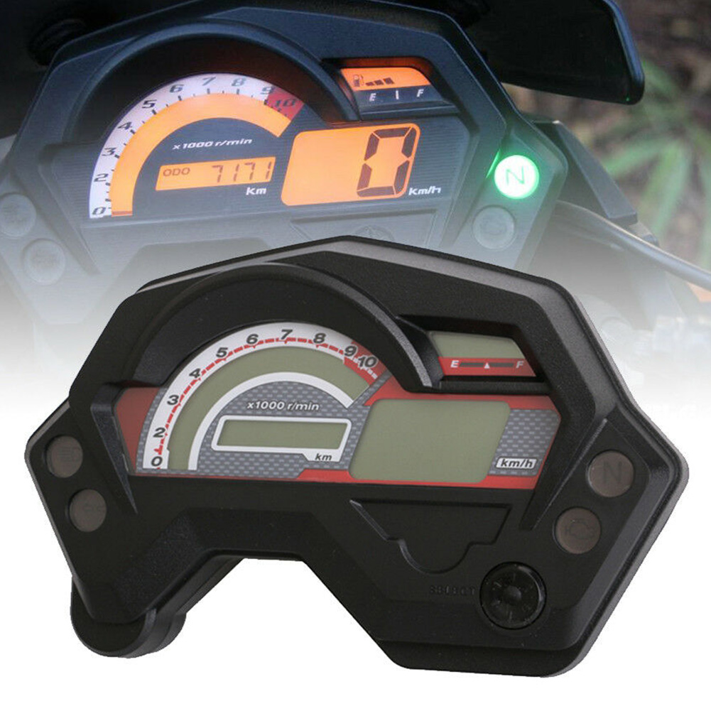 Motorcycle Waterproof Speedometer Digital Universal Electric Indicator LCD Display <font><b>Parts</b></font> for Cafe Racer Speedometer <font><b>Yamaha</b></font> <font><b>FZ16</b></font> image