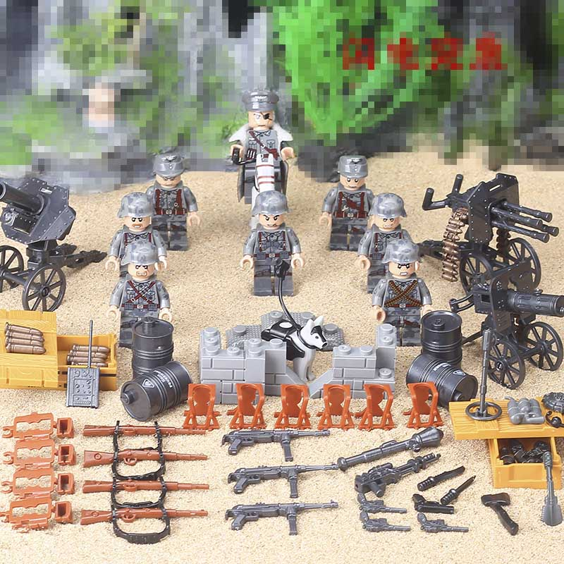 Compatible Legoed 2019 World War 2 WW2 Sino-Japanese War Chinese Eighth Route Army Military Building Block With Weapons Toys