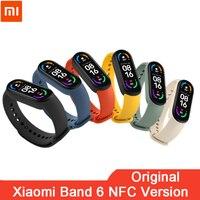 Braccialetto intelligente originale Xiaomi Mi Band 6 NFC schermo AMOLED Miband 6 Smartband Fitness Traker braccialetto Bluetooth per la frequenza cardiaca