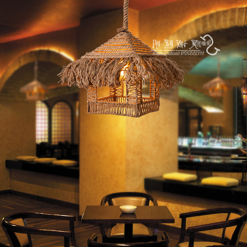 Loft Nordic Retro Pastoral Clothing Store Cafe Bar Chandelier Chandelier Rope Rope American Country Luminaire