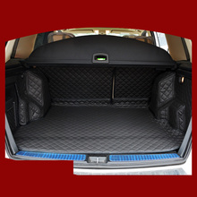 custom fit pu leather car trunk mat for Mercedes-Benz GLK-CLASS GLK280 GLK300 glk350 GLK220 GLK250 2008-2016 5d cargo liner custom fit luxury pu leather car trunk mat cargo mat for toyota venza 2008 2017 5d cargo liner