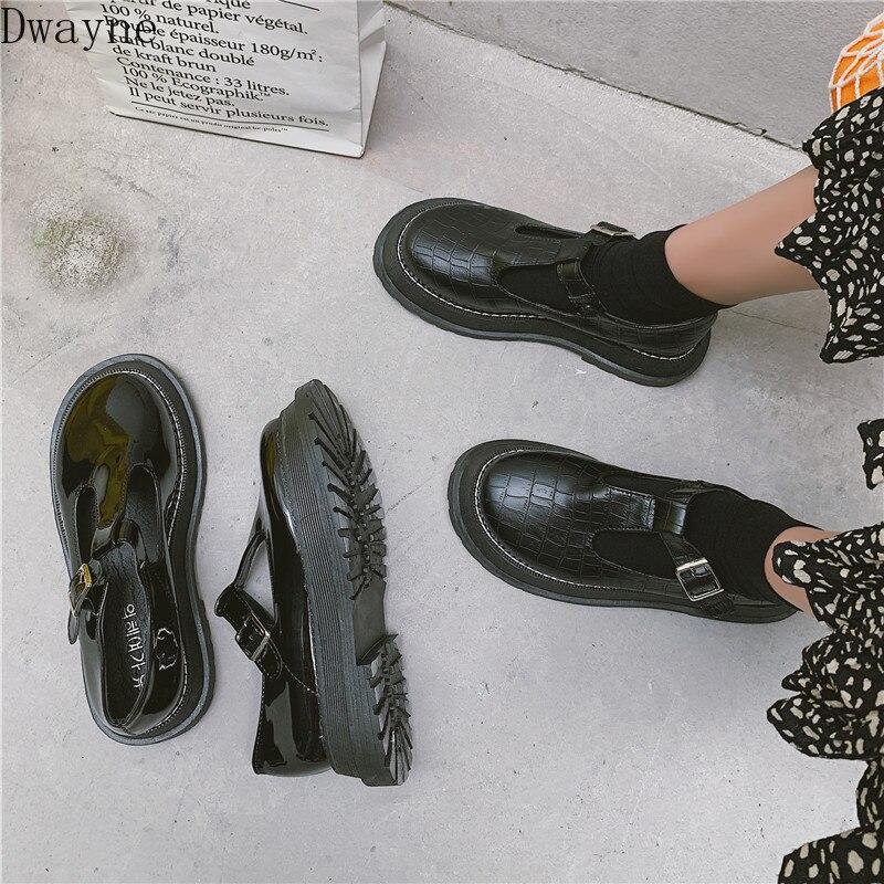 Маленькие кожаные туфли; Женская обувь в британском стиле; коллекция 2019 года; сезон лето; Новинка; туфли в японском стиле Mori girl; черные туфли mary jane в стиле ретро с пряжкой|Обувь без каблука|   | АлиЭкспресс