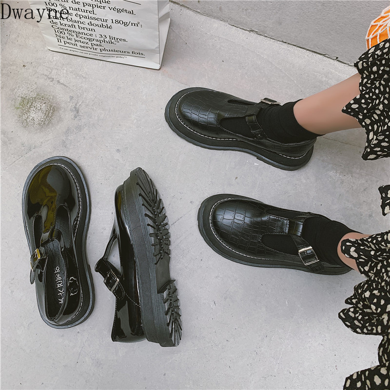 Small Leather Shoes Female British Wind 2019 Summer New Mori Girl Japanese Wild Black Retro Mary Jane Shoes Word Buckle