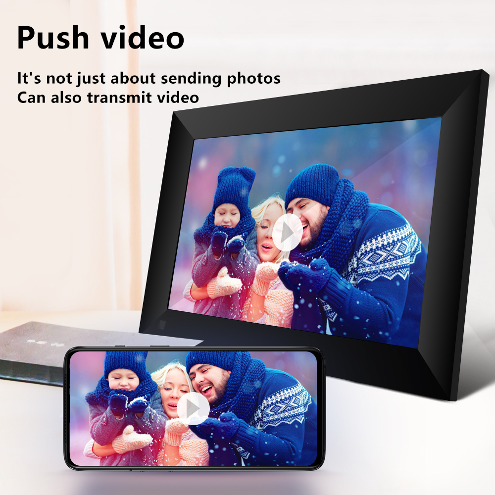 Digital-Picture-Frame Lcd-Panel Touch-Screen App-Control Smart-Electronics Wifi P100
