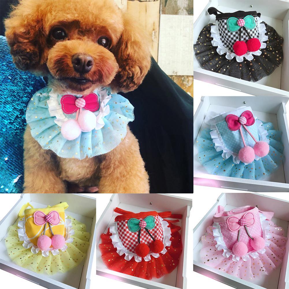 Cloth Cute Dog Neckerchief Cute font b Pet b font Dog Puppy Plaid Dot Print Bandana