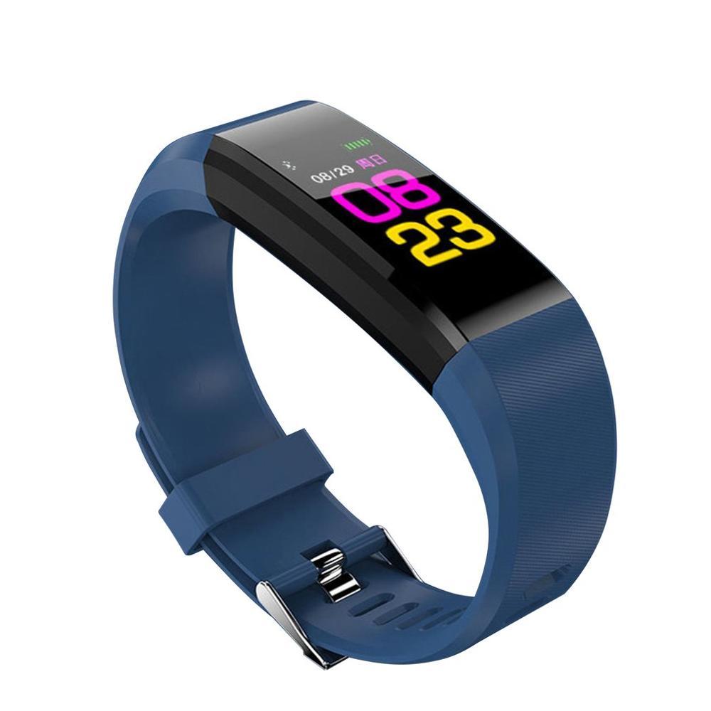 ID115plus color screen smart hand heart rate oxygen monitoring waterproof sports smart bracelet wristband
