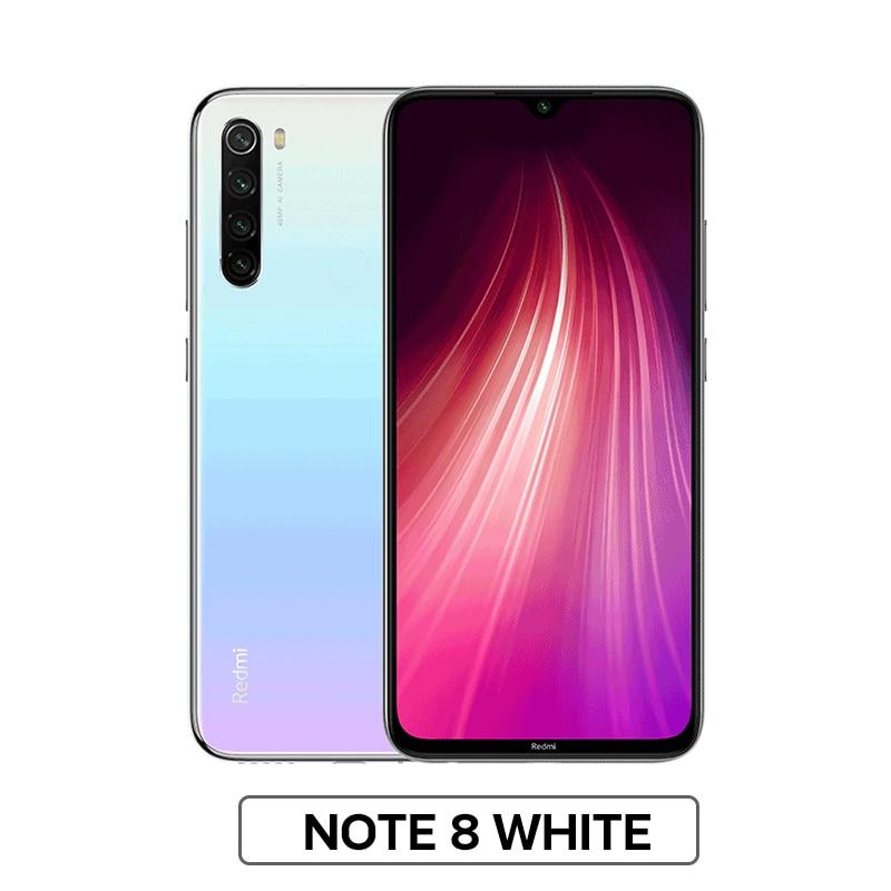"""Глобальная версия Xiaomi Redmi Note 8 4 Гб 64 Гб Смартфон 48мп камера Snapdragon 665 мобильный телефон 4000 мАч 18 Вт Быстрая зарядка 6,"""" FHD - Цвет: Note 8 White"""