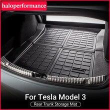 Model3-alfombrilla protectora impermeable para maletero de coche, accesorio de coche para Tesla, Modelo 3, esteras para maletero, bandeja de carga, almohadillas para 2019