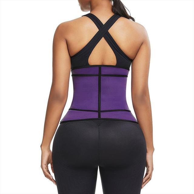 3 Steel Bones Neoprene Sauna Waist Trainer Corset Sweat Belt for Women Weight Loss Compression Trimmer Workout Fitness Wholesale 3