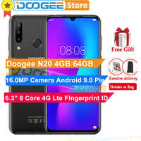 DOOGEE N20 4G 64GB 6.3inch Waterdrop Screen 3 Back Camera Android 9.0 Pie Octa Core Fingerprint ID 4350mAh 4G LTE Smartphone