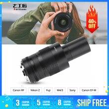 7 장인 60mm F2.8 APS C 소니 E 마운트/캐논 후지 M4/3 니콘 카메라 용 수동 초점 매크로 렌즈 lente para celular camera Lens