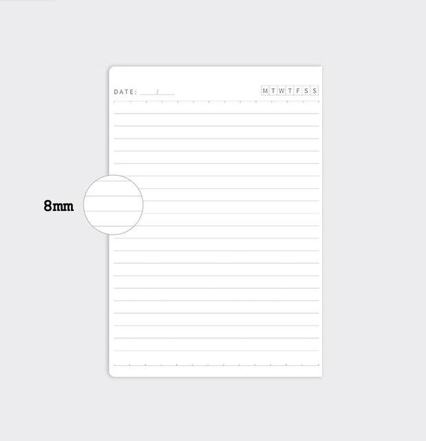 Journal de ligne de planificateur mensuel annuel