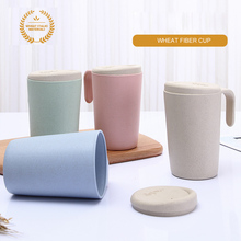 350ml Wheat Straw Water Mug Tumbler with Lid Eco-friendly Travel Coffee Mug Winter Drinking Cup Gift недорго, оригинальная цена