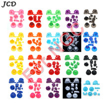 JCD Full set D Pads Power ON OFF Button for GameCube A B X Y L R Buttons and Analog Thumbstick Joystick Stick Cap for NGC