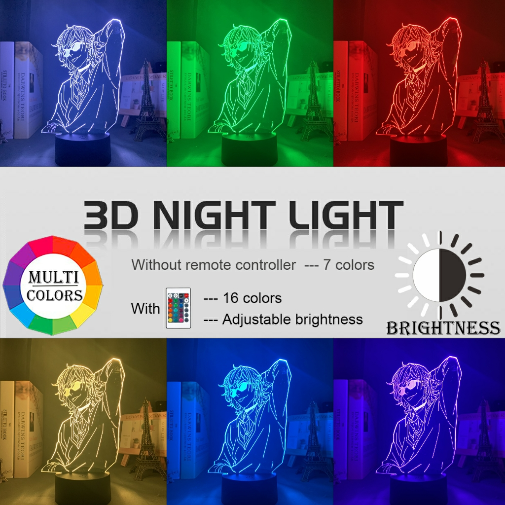 Acrylique 3d lampe BL Anime Yarichin chienne Club Yuri Ayato lumière pour lit chambre décor veilleuse Yarichin chienne Club lampe Yuri Ayato 3
