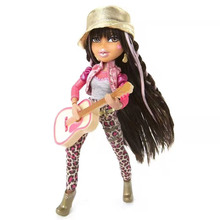 Super rare Genuine Bratzs rock doll Yasmin w Guitar Singer Star dress up Gift for girl 2010 Limited collection toy for child