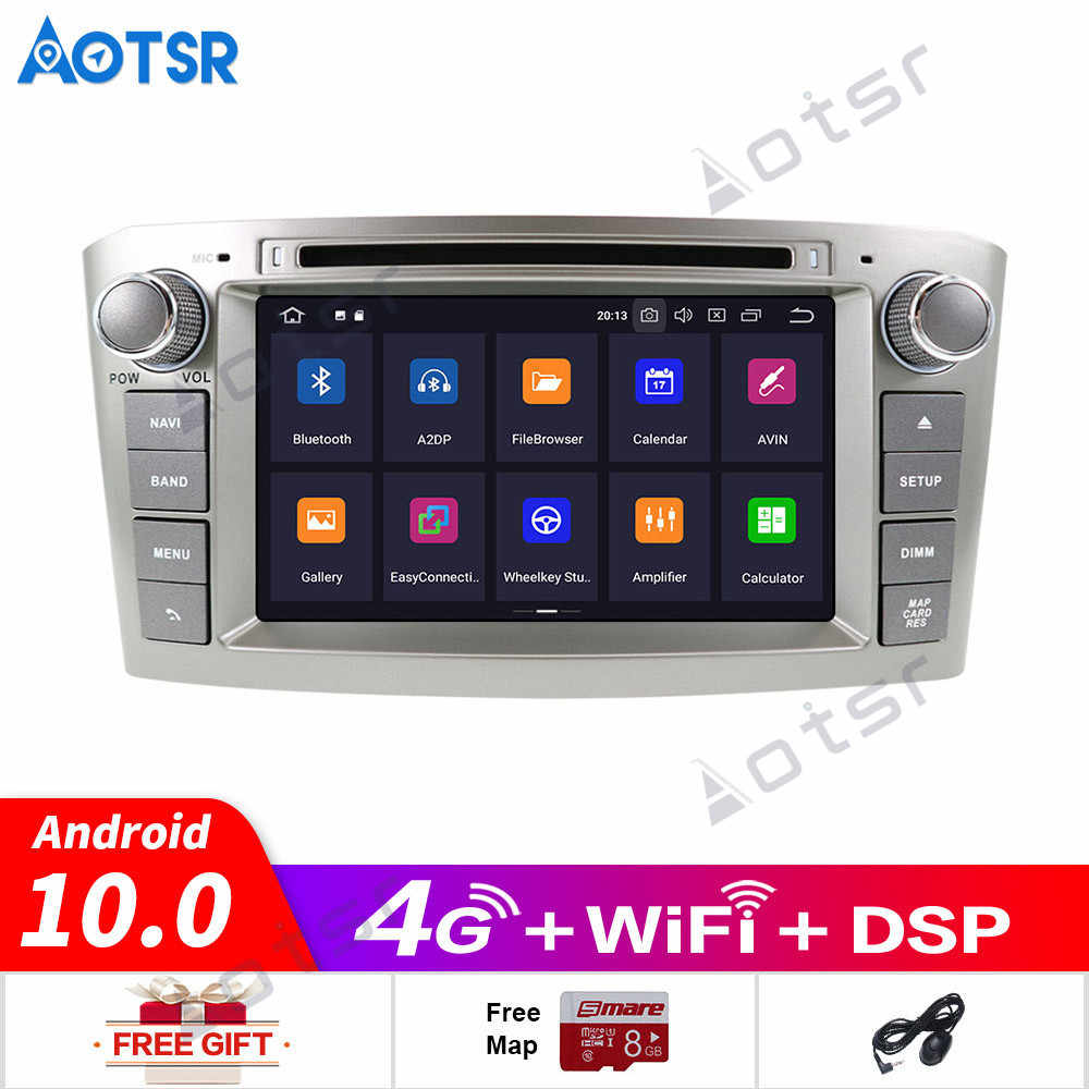 64G Ram Android 10 Auto Radio Gps Multimedia Stereo Dvd-speler Voor Toyota Avensis T25 2003-2008 Auto audio Wifi Video Navigatie