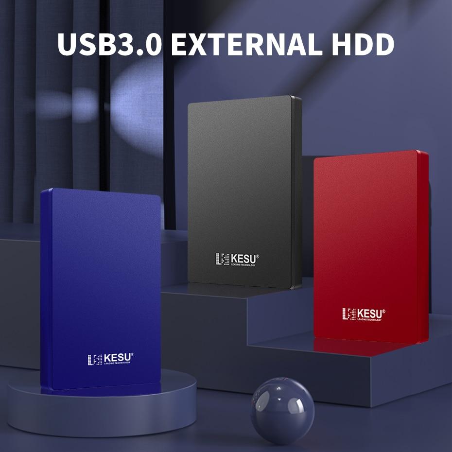 """Disque dur externe USB3.0 2.5 """"disque dur Portable 750gb/1 to/2 to stockage de disque dur Compatible pour PC, Mac, ordinateur de bureau, ordinateur Portable, MacBook"""