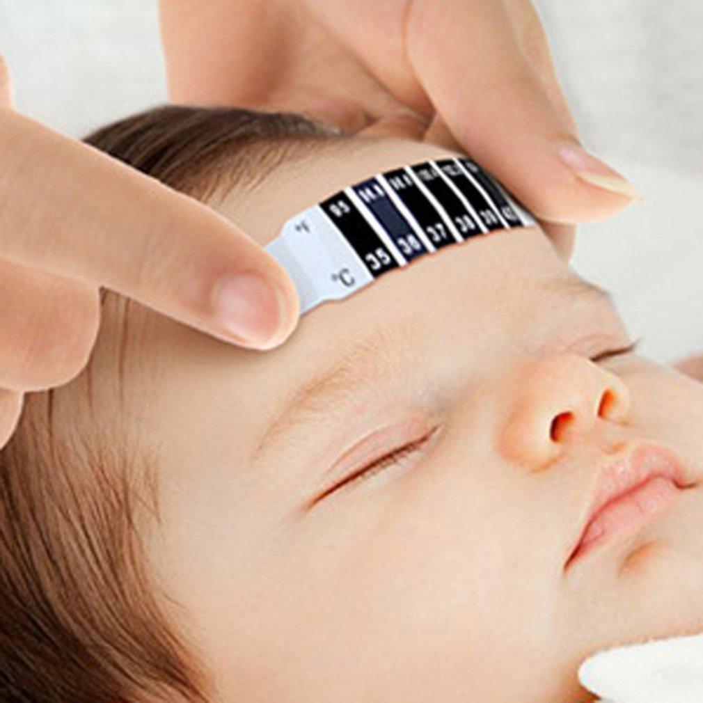 Children'S Forehead Thermometer Plastic Lcd Color Changing Body Temperature Sticker Measuring Temperature Sticker 1 Piece