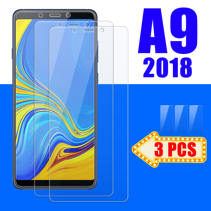 1-3PCS Protective Glass On The For Samsung Galaxy A9 2018 A9200 Screen Protector A92018 Armored Gala