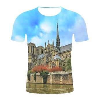 Notre-Dame de Paris t shirt men/women printed t-shirts Fashion Harajuku style tshirt O-Neck Casual streetwear Short Sleeve