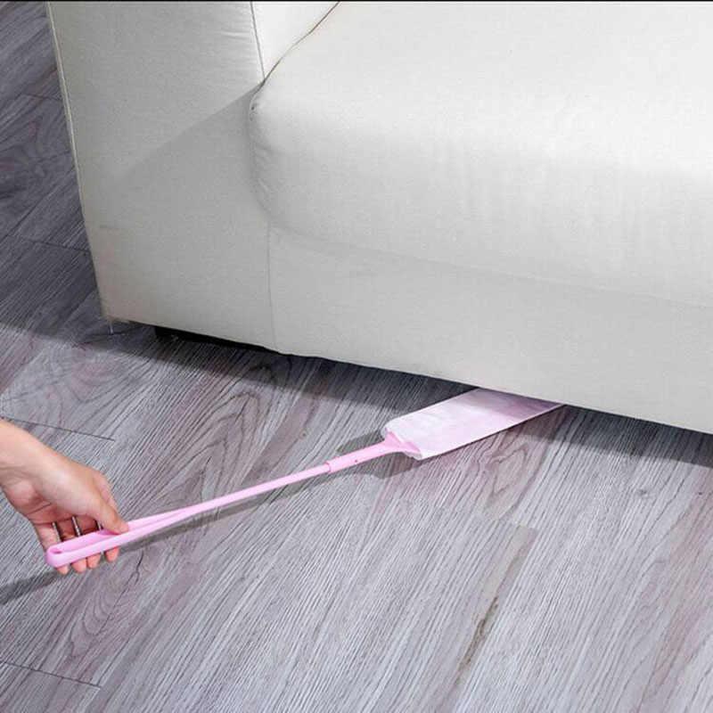 2pc pour coin maison dépoussiérage pratique allonger l'écart dépoussiéreur salle de bain barre de nettoyage fournitures doux Non-tissé dépoussiérage brosse
