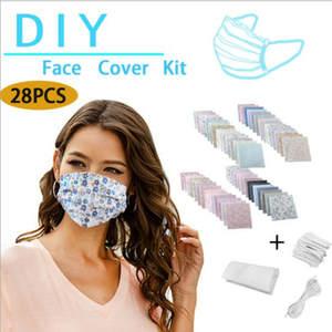 Mask-Kit Homemade-Mask Make-Face-Mask-Mouth-Masks Nose Non-Woven-Material DIY 28pcs Bridge-Clips