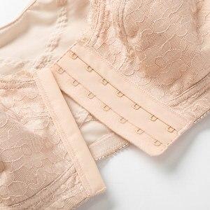 Image 5 - 女性のフルカバレッジx字状姿勢コレクターワイヤレス非が詰めバックサポートレースフロント閉鎖ブラジャープラスサイズdd e f