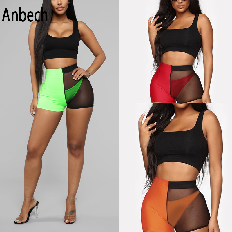 2019 Summer Hot Selling Gauze Mixed Colors Hot Pants Sexy Slim Fit Europe And America Hot Selling Fashion Casual Pants