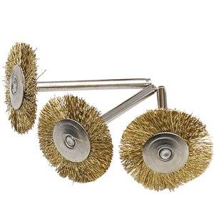 Image 5 - Meuleuse à métaux, brosses à fils en laiton, brosses à fils, outil électrique rotatif pour graveur, 9 pièces/lot