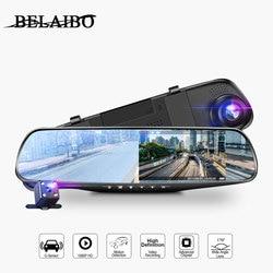 4.3in Car Dvrs Video recorder Dash Cam Full HD 1080P Mirror Cam Car Dvr Camera loop recording motion tracking
