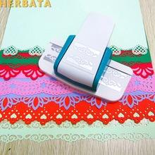 Extra-large labor-saving blank holder flower pattern embossing device kindergarten handmade greeting card making tool Hole punch