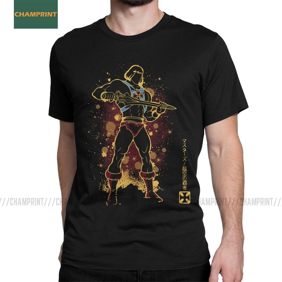 He-adam Eternian ustaları evren erkek T shirt Skeletor 80s she-ra Beast tee kısa kollu t-shirt pamuklu üst giyim