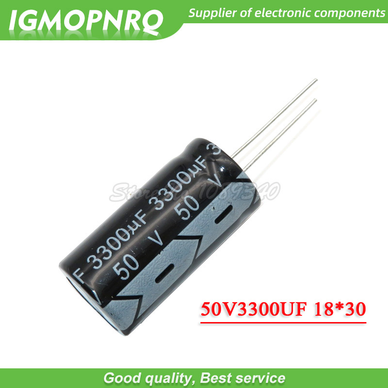 5PCS 50V3300UF 18*30mm 3300UF 50V 18*30 Electrolytic Capacitor 50V3300UF