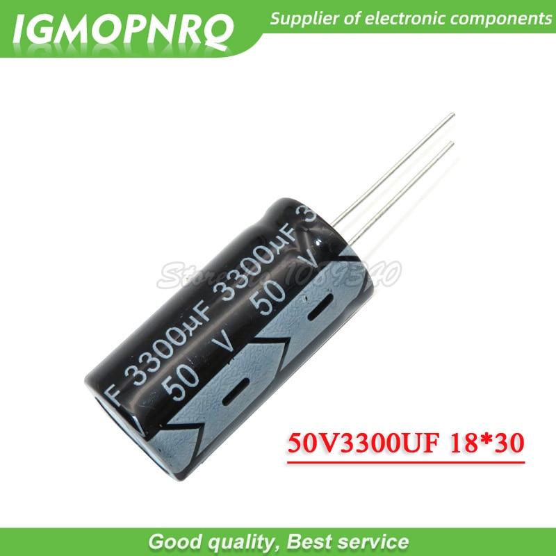 5PCS 50V3300UF 18*30mm 3300UF 50V 18*30 Electrolytic Capacitor 50V3300UF