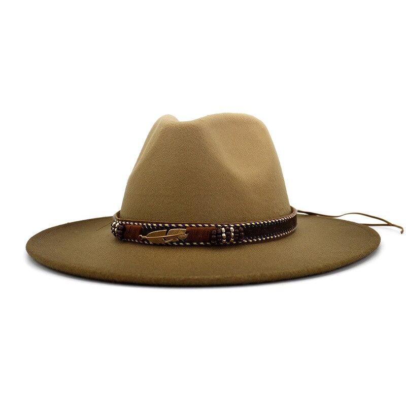 Fedora Hat Men Women artificial wool Blend Simple Wide winter fedora hats Feminino Gorra Fashion Jazz Hat Chapeau Wholesale