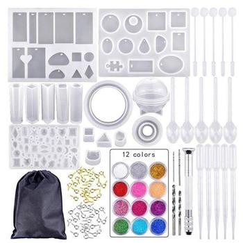 12 цветов набор силиконовых форм смешанный сток капельница Sluiting Diy Sieraden Maken аксессуары Gereedschap Mallen Combinatie Ambachten