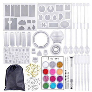 12 colors Set Silicone Mold Mix Stok Dropper Sluiting Diy Sieraden Maken Accessoires Gereedschap Mallen Combinatie Ambachten(China)