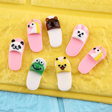 DECOCASE 30pcs Shoes with Animals Slime Charms Beads Headwear Flatback Crafts Ornaments Decoration Phone Case DIY Accessories