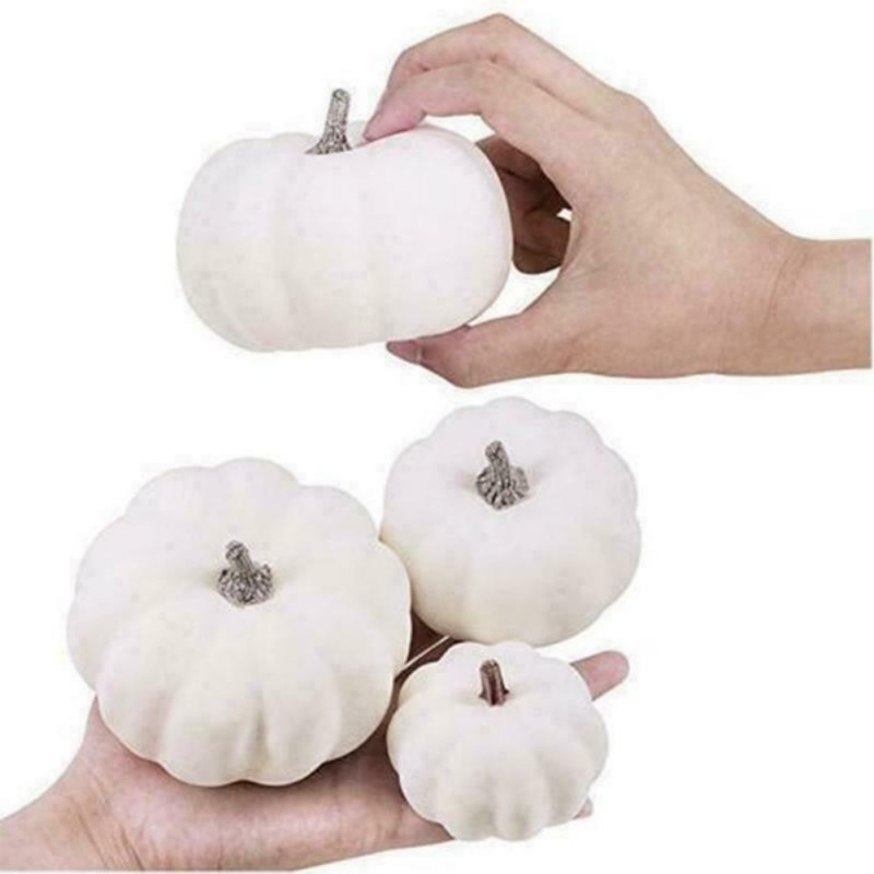 12Pcs Halloween Foam Artificial Pumpkins DIY Fake Fruits Ornament Simulation Plant Home Decoration For Kindergarten Family Bar