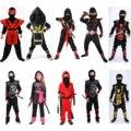 Новогодний Костюм Ниндзяго для мальчиков, детвечерние нарядный костюм на Хэллоуин для детей, Косплей ниндзя, костюм супергероя самурайског...