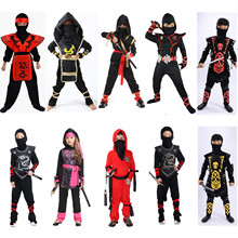 Fantasia para crianças, traje para crianças, fantasias para festa de halloween, cosplay de ninja super-herói, samurai warr, menina, swordsman, ano novo