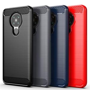 For Cover Nokia 5.3 Case For Nokia 5.3 Soft TPU Bumper Carbon Fiber Phone Case For Nokia 1.3 2.1 2.2 3.2 4.2 6.2 7.2 5.3 Fundas