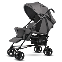 Bluebaby twins stroller easy portable folding double baby for big and small baby can sit and lie before after the second child