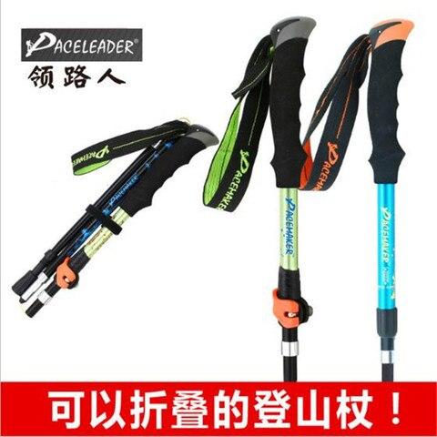 paceleader gd 7 eva pega reta liga de aluminio 5 secao bastoes ajustaveis caminhadas varas