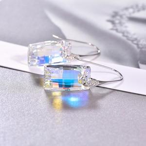 Image 5 - Malanda boucles doreilles cristaux de Swarovski, pendentifs urbains pour femmes, en argent Sterling, Piercing, pendentifs, mode