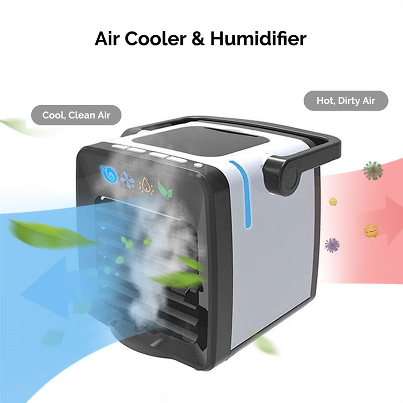 Mini Desktop Air Conditioning Cold Air Humidifier Arctic Unit Fan Low Noise Home Cooler Cold Water Cooling System Dropshipping