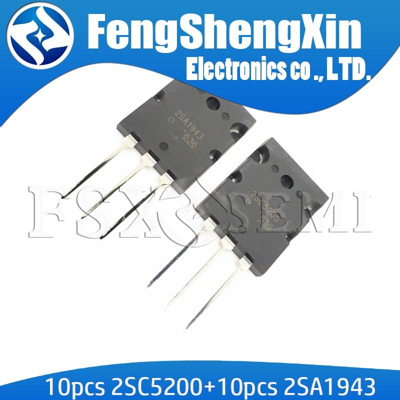 20 шт. 2SC5200 2SA1943 TO 3P усилитель звука IC 10 пар (10 шт. C5200 + 10 шт. A1943 ) TO 247|Интегральные схемы|   | АлиЭкспресс