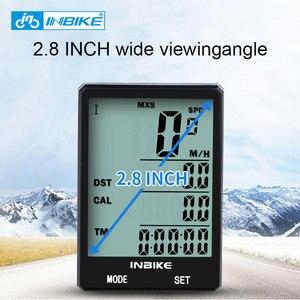 Image 2 - Inbike 2.8 インチ自転車コンピュータワイヤレスバイクコンピュータライトヘッドライトセット防雨スピードメーター走行距離サイクリングストップウォッチ