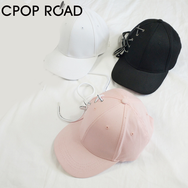 High Quality Shoelace Hip Hop Baseball Cap For Women Girl Men Low Profile Black Flex Fit Classic Adjustable Sport Plain Hat Gift